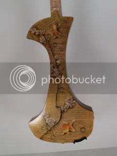 back of electric violin