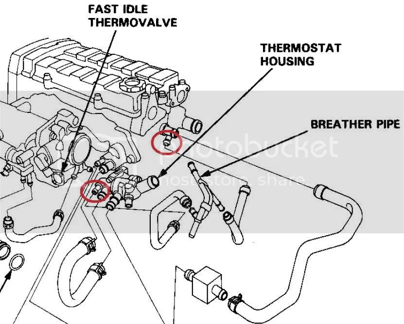 Radiator Hoses Benz M271 Diagrams