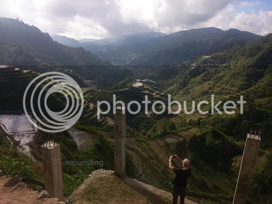 tourist and the Banaue Rice Terraces