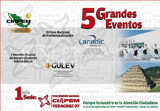 Cinco grandes eventos