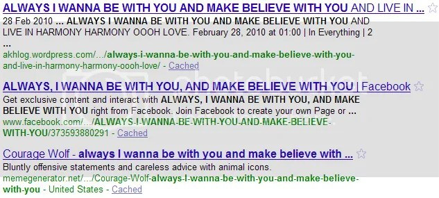 ALWAYS I WANNA BE WITH YOU AND MAKE BELIEVE WITH YOU