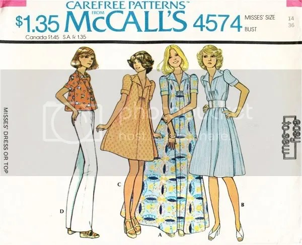 Loose fitting dresses attached to yoked collar with BIG 70s collars. Maxi dress, etc.