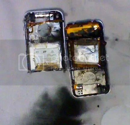 iPhone quemado