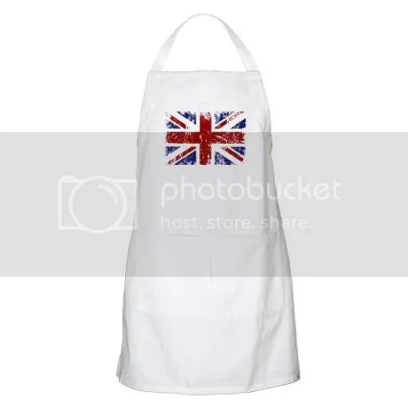 British Flag Punk Grunge Apron on CafePress