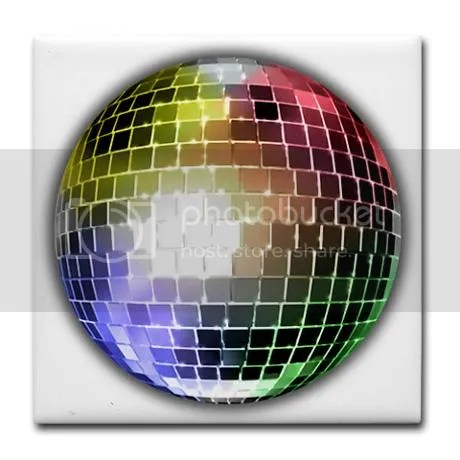 Funky Disco Ball Color Tile Coaster on CafePress
