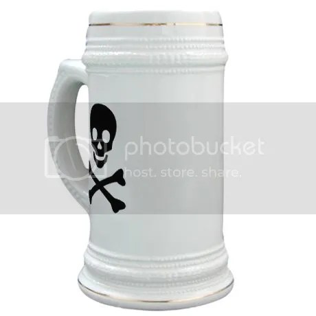 Skull n Bones Stein Mug on CafePress