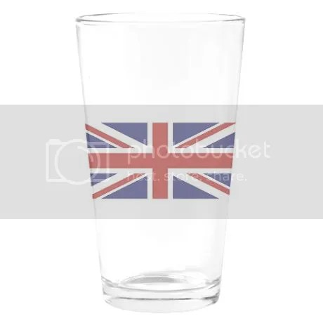 UNION JACK UK BRITISH FLAG Drinking Glass on CafePress
