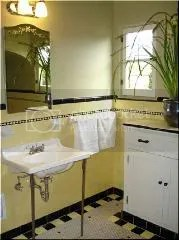 Yellow bath sink