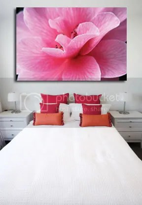Pink flower bedroom from Photobucket