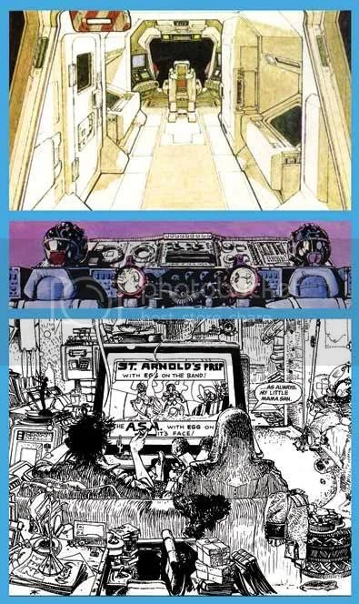 Cobb interiors. The second image is from Walt Simonson's fantastic adaptation of the film. Equally influential.