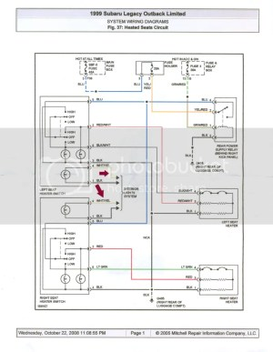 Deciphering the wiring harnesdiagram  Heated Seats  Subaru Forester Owners Forum