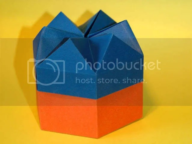 Origami Calendário Semana 02 A Caixa Hexagonal Origami Kawakami