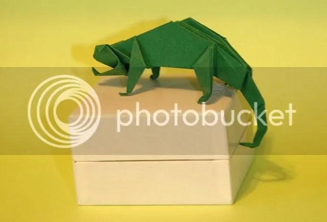 Origami de Camaleão