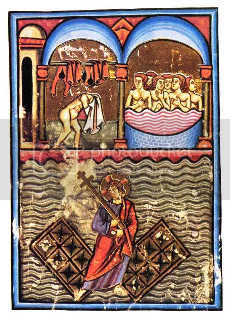 Petrus_de_Ebulo_-_Balneum_Tripergul.jpg Mosaico con catalogo di pesci, da Pompei. picture by orsosognante