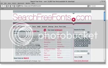 searchfreefonts 21 Website Font Gratis