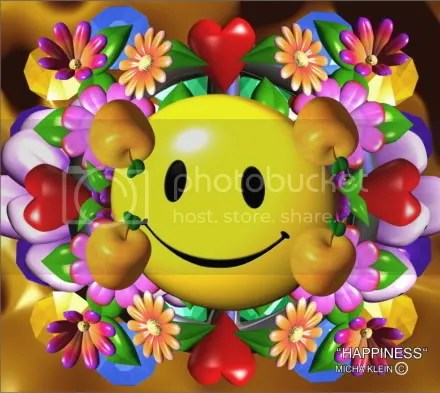 happiness icon flowers and fruit