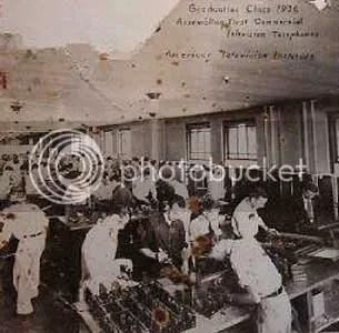 ATI's 1936 class manufacturing television-telephones