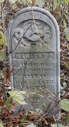 Gravestone of Wealthy Priscilla (Perry) Mattocks