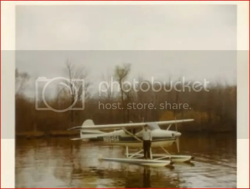 Earl with a pontoon plane
