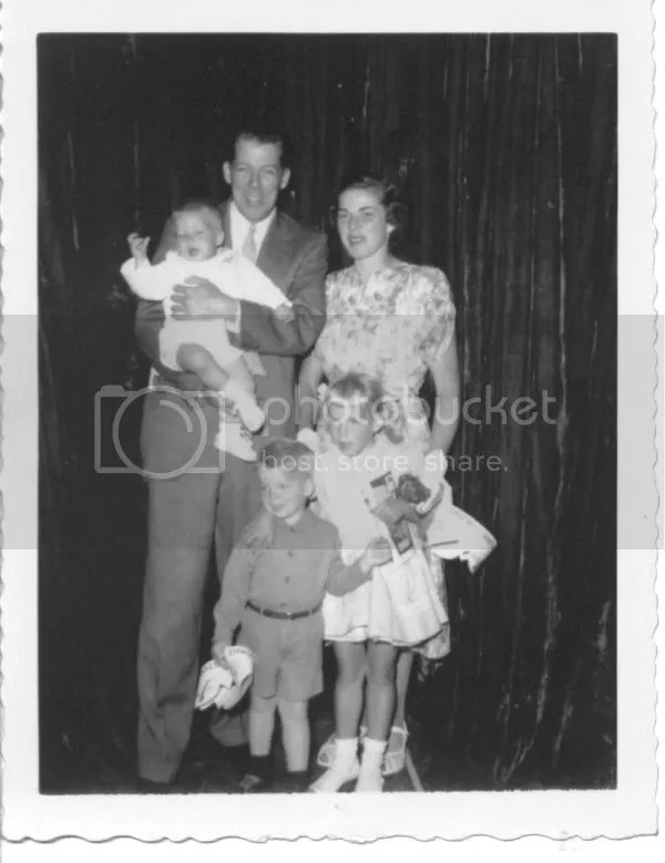 Earl and Aldine with their children Barbara, David, and Edward