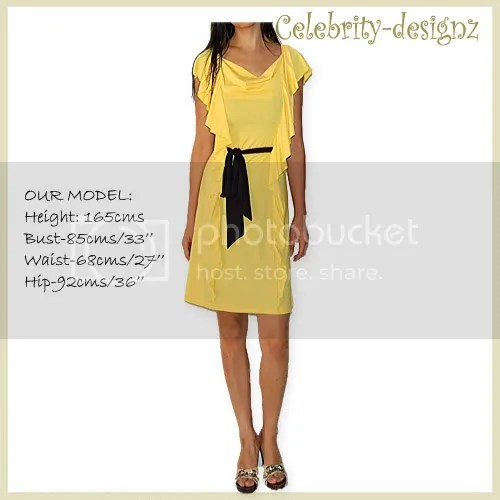 Ruffle Jersey Dress in yellow AUD89 (a bargain!)