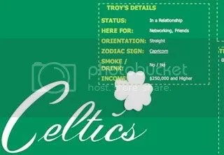 Celtics Myspace Background