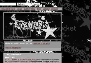 Famous Stars And Straps Myspace Layout