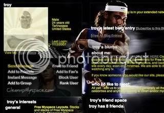 Rafael Nadal Myspace Layout