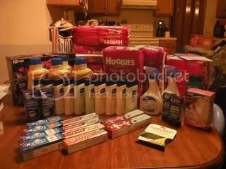 FREE huggies diapers, glad spray, right guard deodorant, crest toothpaste, colgate toothpaste, vaseline lotion, arm and hammer detergent, pepsi, etc