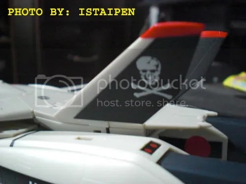 The skull squadron logo on Hikarus VF-1S