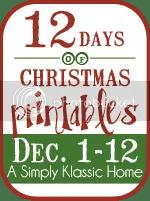 12DaysButton - 30+ FREE Christmas Printables