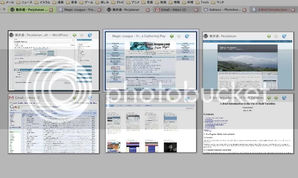 a bit mac os x environment inside firefox