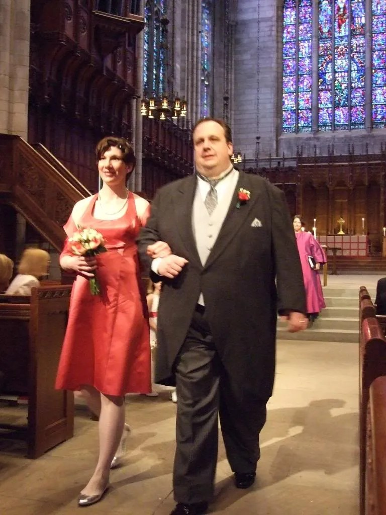 Terasina and I making our recession.  I was very lucky to have the best looking bridesmaid.