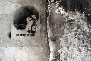 Gil Scott-Heron in graffiti