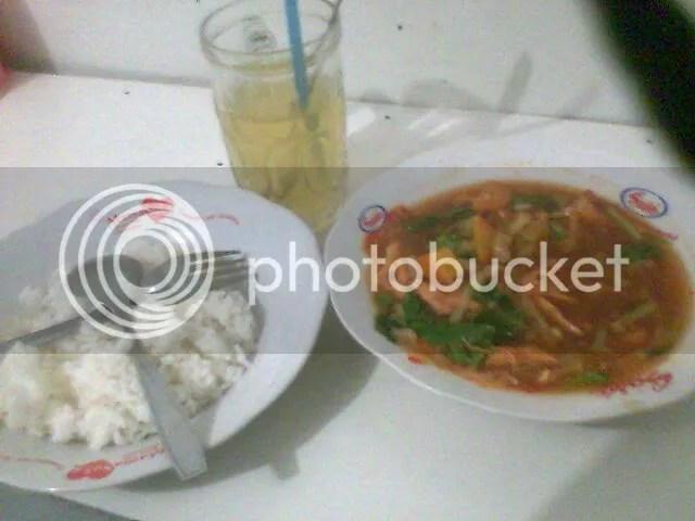 Ayam gongso sebelum dimakan