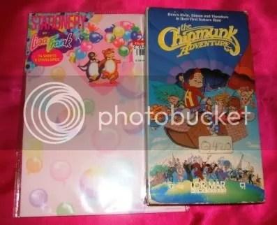 Lisa Frank stationary circa 1989/90 Chipmunk Adventure VHS