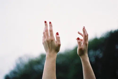 Image result for image of hands in the air tumblr