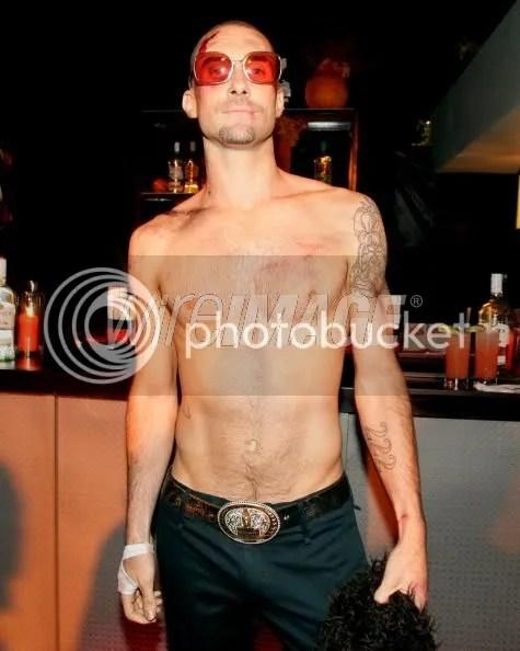Shirtless Adam Levine