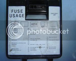1992 Buick LeSabre fuse panel diagram?