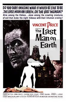 Vincent Price, The Last Man On Earth, 1964 movie poster