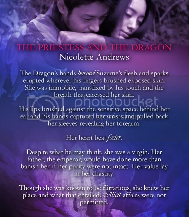 Nicolette Andrews, fantasy, the priestess and the dragon