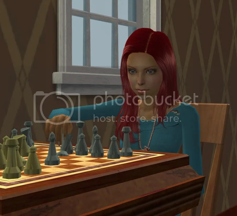 Jane Concentrates on chess