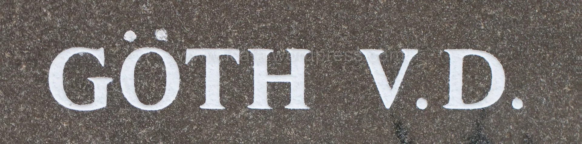 Webová stránka pro goth