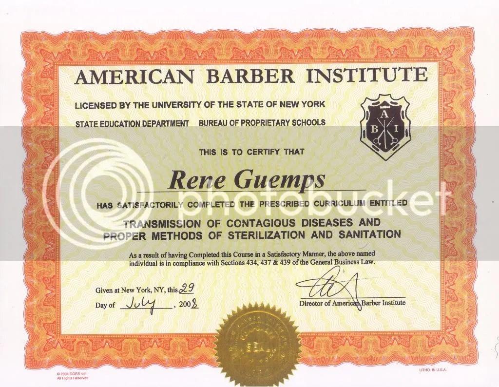 BarberCertificate