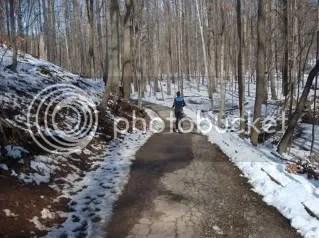 Snowy Metroparks path