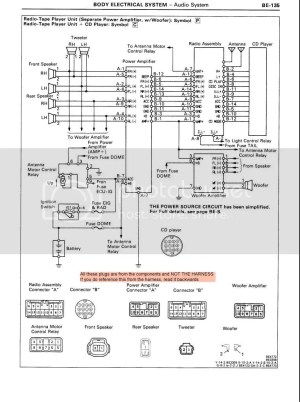 '91 Premium Stereo Wiring Instructions  Page 2  MR2