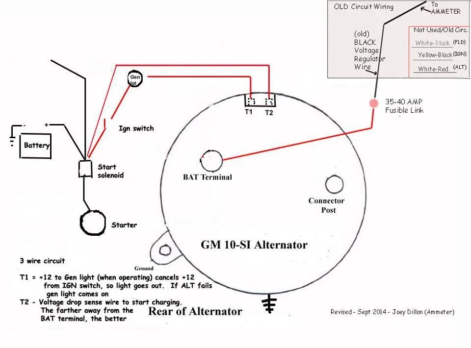 Gm Internal Regulator Alternator Wiring - All Wiring Diagram Data on