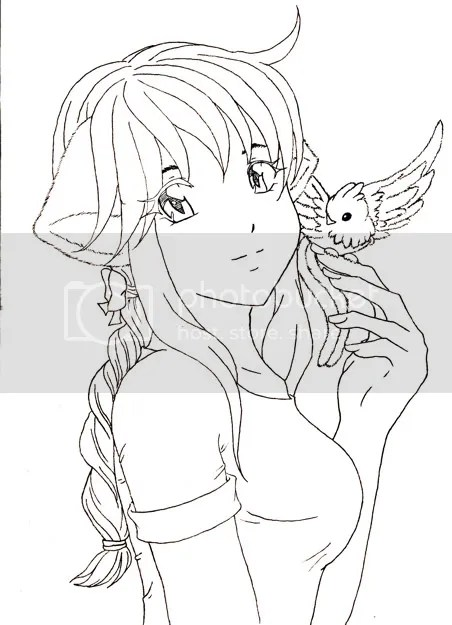 catgirl + bird