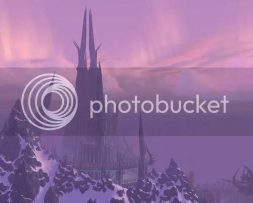 Icecrown Citadel from above Dalaran