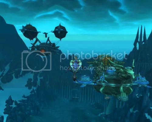 The ships above Icecrown